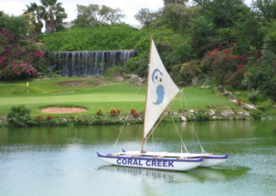 Coral Creek boat on water