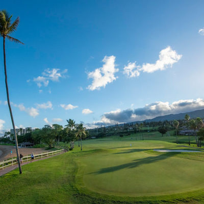 Hawaii Golf course on ocean